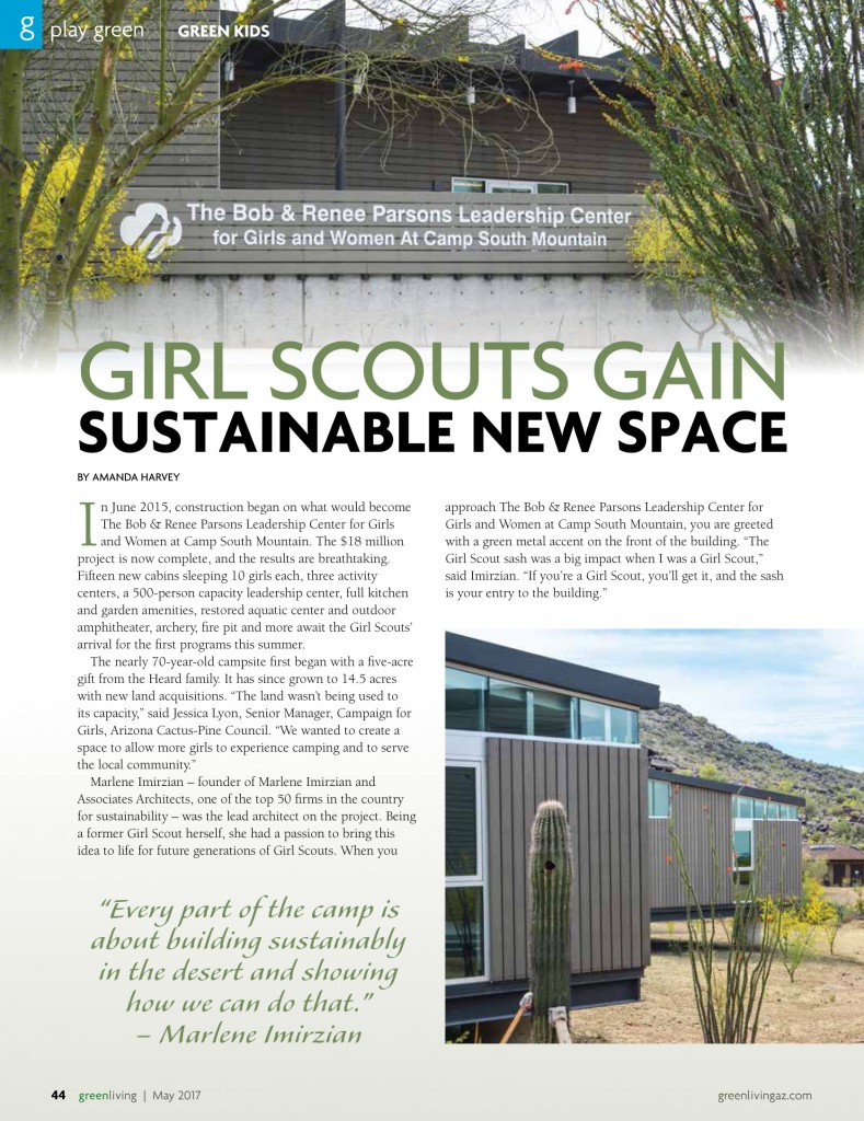 Imirzian architects green living girl scouts gain for New space architects