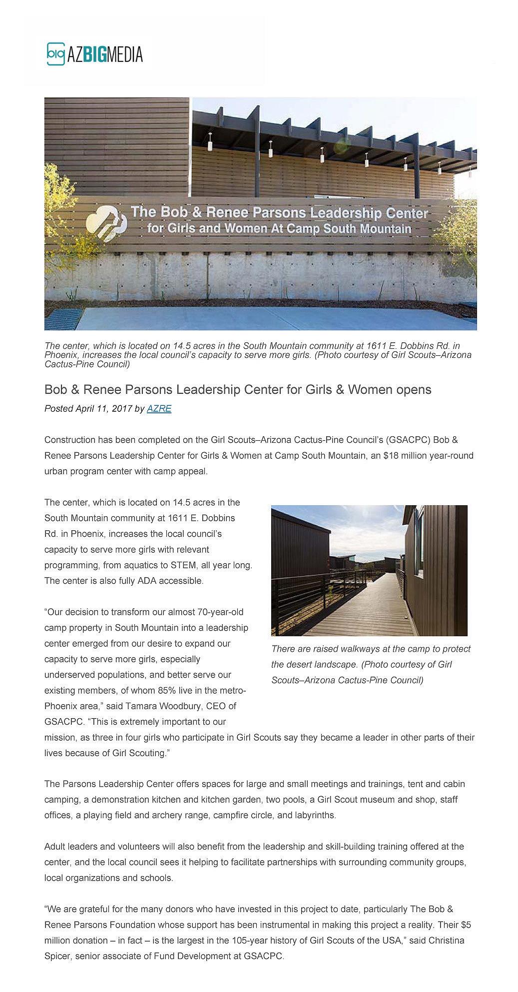 "Imirzian Architects | ""The Bob & Renee Parsons Leadership"